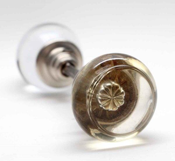 Door Knobs - Vintage Glass Door Knob with Mercury Bullet