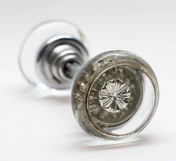 Door Knobs - Vintage Round Glass Door Knob Set with Mercury Bullet