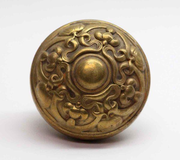 Door Knobs - Yale Pressed Brass Art Nouveau Single Door Knob