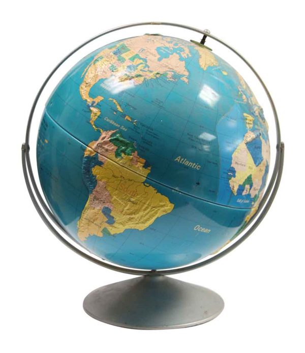 Globes & Maps - Vintage Globe with Plastic Base