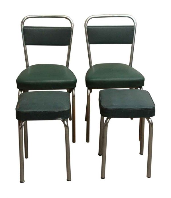 Kitchen & Dining - European Strafor Green Chair & Stool Set