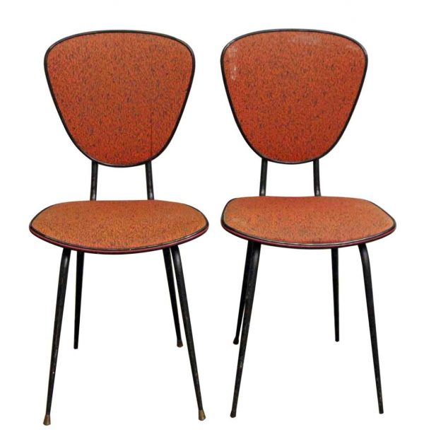 Kitchen & Dining - Pair of European Red 1960s Plastic Chairs