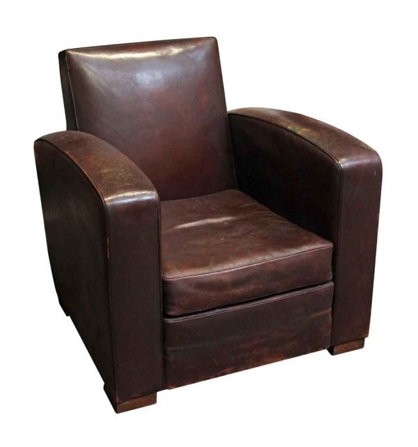 Living Room - European Single Leather Vintage Chair