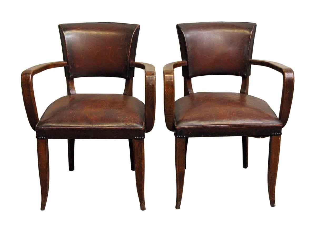 Beautiful Living Room   Pair Of European Bridge Chairs With Dark Wood Frame
