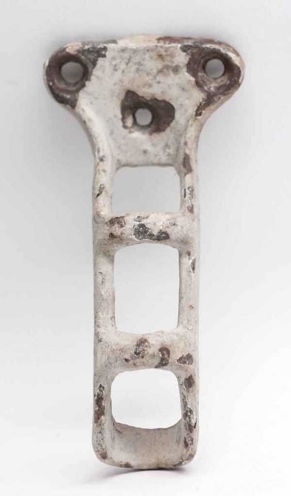 Other Hardware - Distressed Painted White Flag Pole Bracket