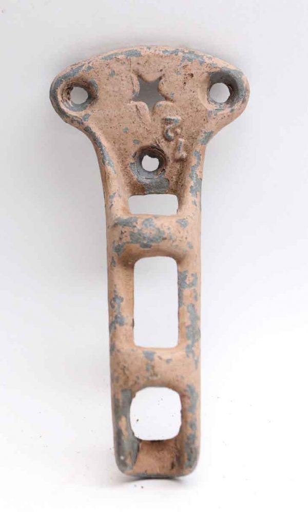 Other Hardware - Painted Pink Old Iron Flag Pole Bracket
