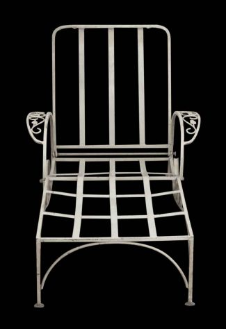 Reclaimed White Metal Patio Lounge Chair & Antique Patio Furniture | Olde Good Things