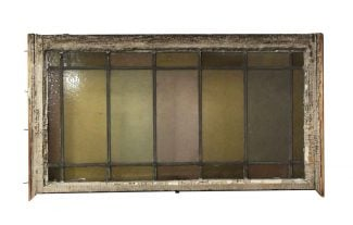 Reclaimed Pastel Stained Glass Rectangular Window