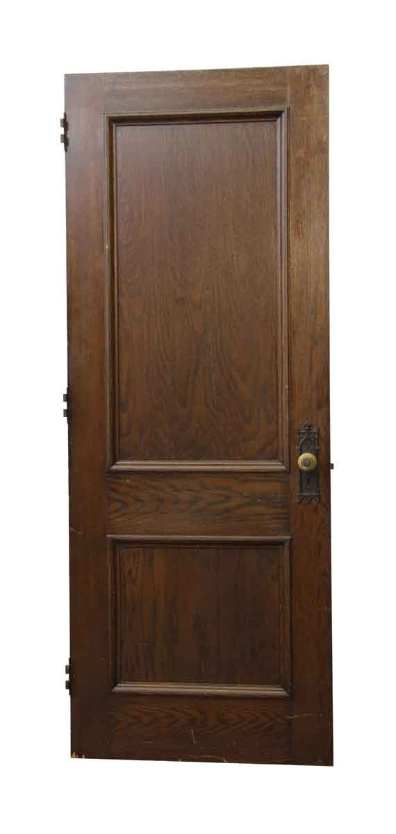 Standard Doors - Salvaged Dark Wood Two Panel Door