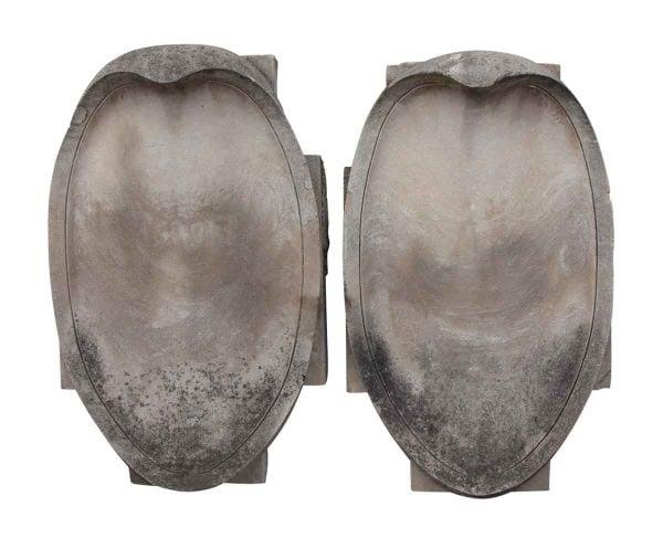 Stone & Terra Cotta - Pair of Limestone Shields