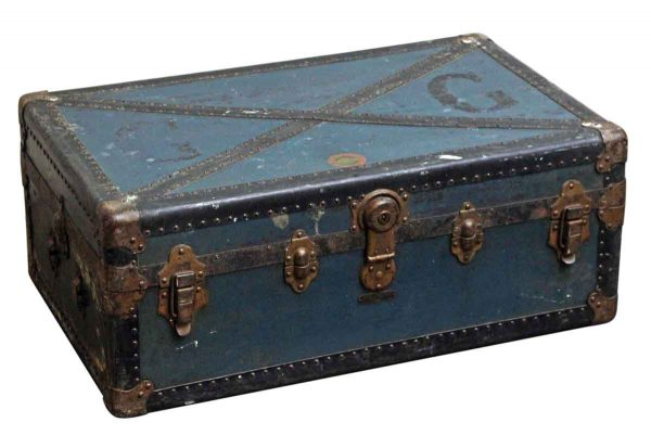 Trunks - European Blue Vintage Trunk