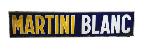 Vintage Signs - European Metal Worn Martini Blanc Sign