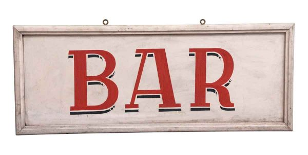 Vintage Signs - European Pink Wooden Bar Sign
