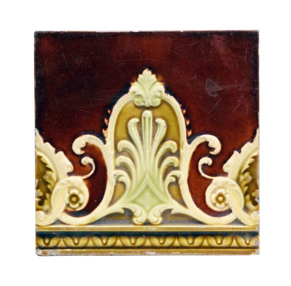 Wall Tiles - Antique Brown & Yellow Decorative Tile