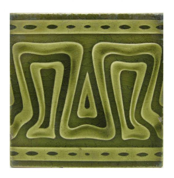 Wall Tiles - Antique Dark & Light Green Geometric Tile
