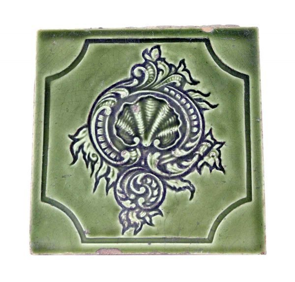 Wall Tiles - Salvaged Antique Green Shell Tile Set