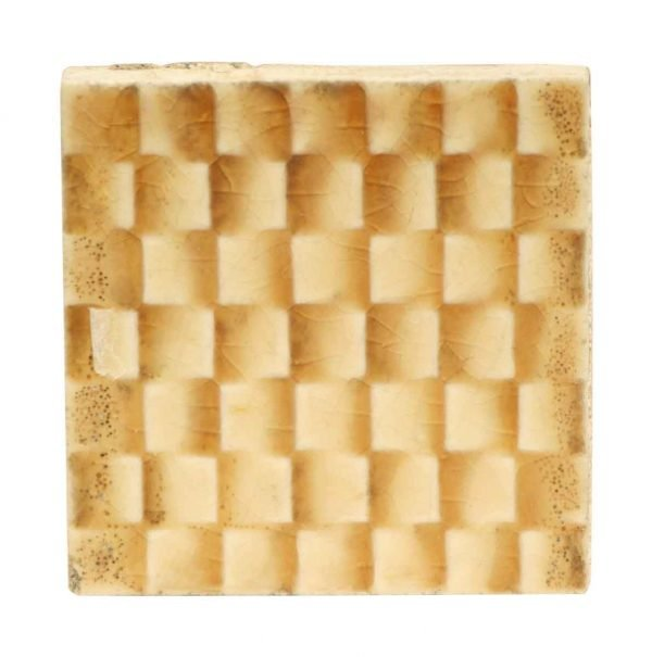 Wall Tiles - Vintage Checked Small Square Tan Tile