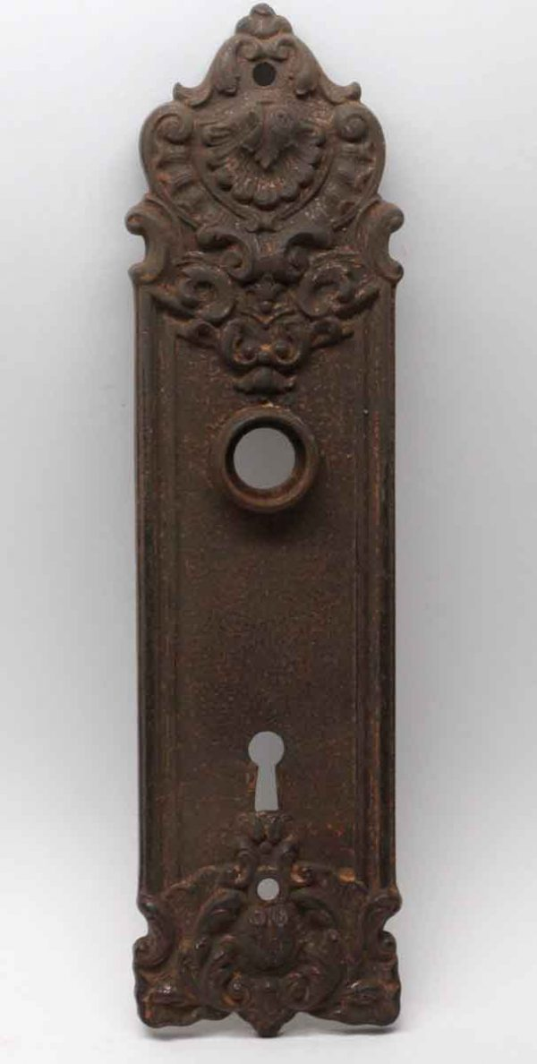 Back Plates - Cast Iron Yale & Towne Rococo Door Back Plate