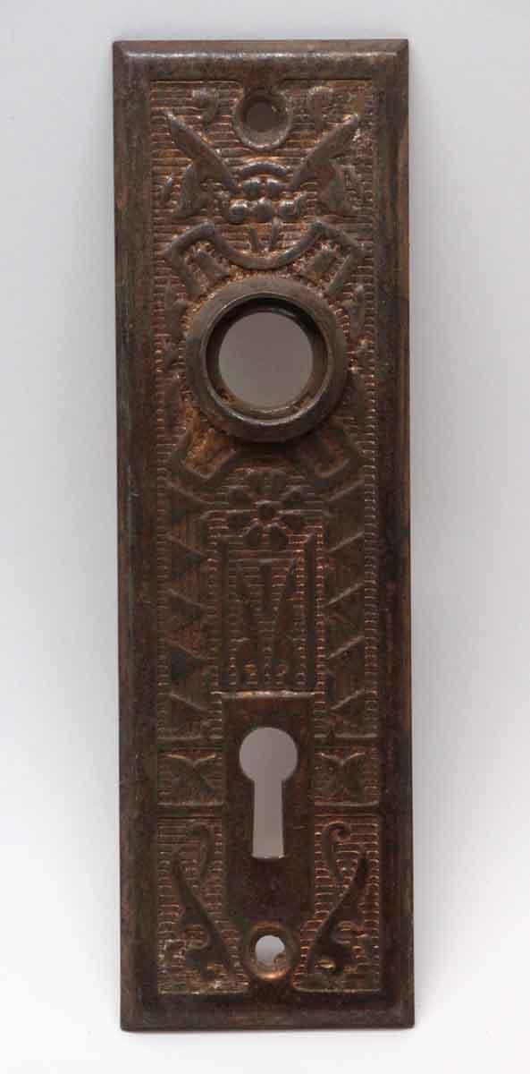 Back Plates - Steel Vernacular Door Back Plate
