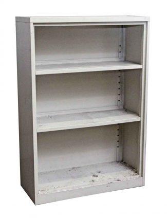 Salvaged Off White Steel Bookcase