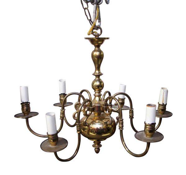 Chandeliers - Waldorf Astoria Brass Colonial Style Chandelier