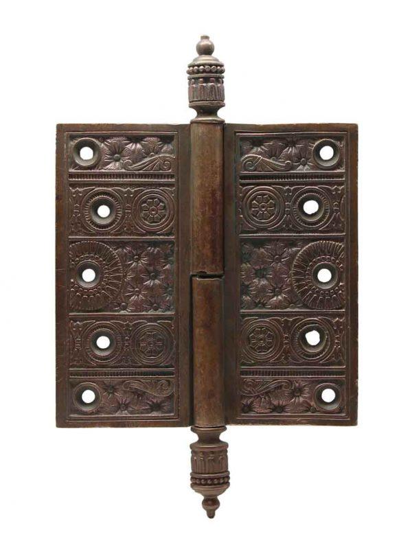Door Hinges - Antique Bronze 5 in. Steeple Tip Hinge