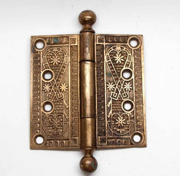 Door Hinges - Polished Bronze Ball Tip Decorative Hinge