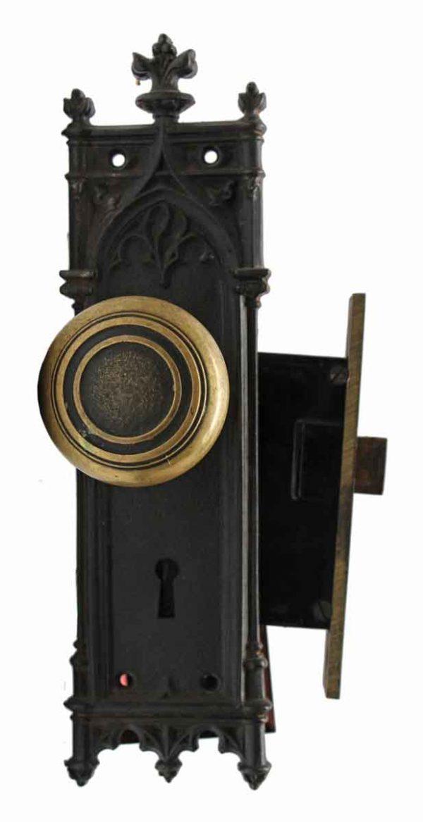 Door Knob Sets - Antique Bronze Concentric Gothic Door Knob Set