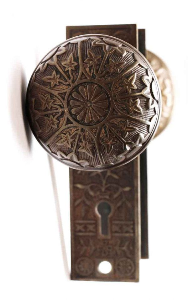 Door Knob Sets - Antique Bronze Sargent Vernacular Entry Door Knob Set