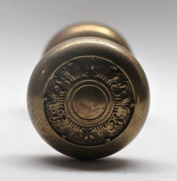 Door Knob Sets - Antique Concentric Brass Door Knob Set