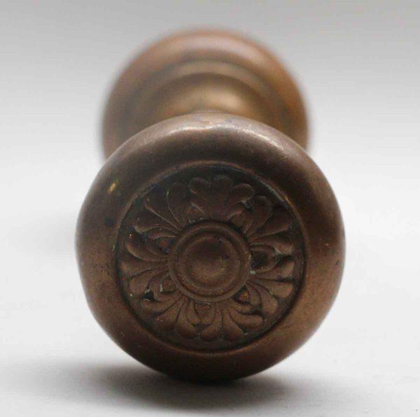 Door Knob Sets - Antique Sargent Dunkirk Brass Door Knob Set