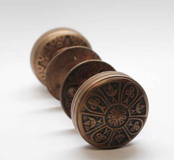 Door Knob Sets - Cast Bronze Norwalk Door Knob Set with Matching Rosettes