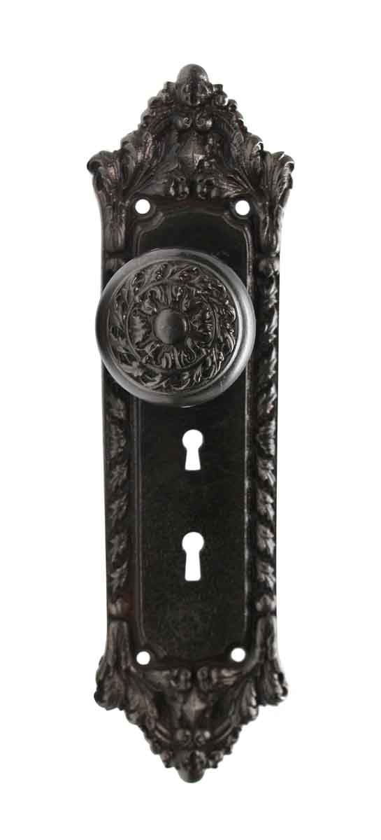 Door Knob Sets - Romanesque Cast Iron Russell & Erwin Chatham Door Knob Set
