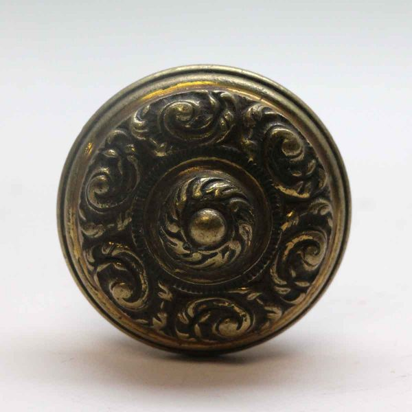 Door Knobs - Antique 1920s 6 Fold Cast Brass Door Knob