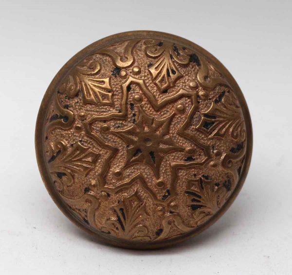 Door Knobs - Antique Bronze 6 Fold Branford Vernacular Star Door Knob