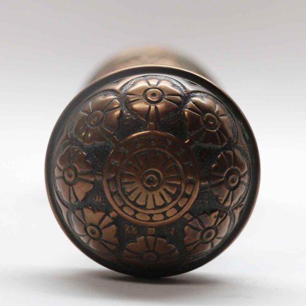 Door Knobs - Antique Bronze Eight Fold Vernacular Door Knob Set
