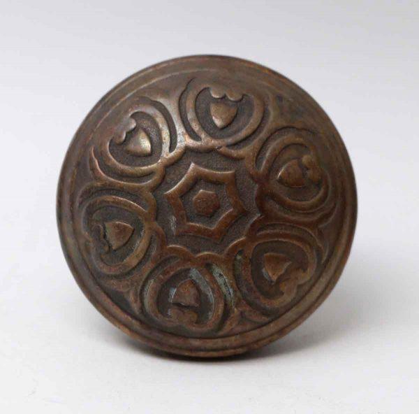 Door Knobs - Antique Five Fold Bronze Yale & Towne Florian Door Knob