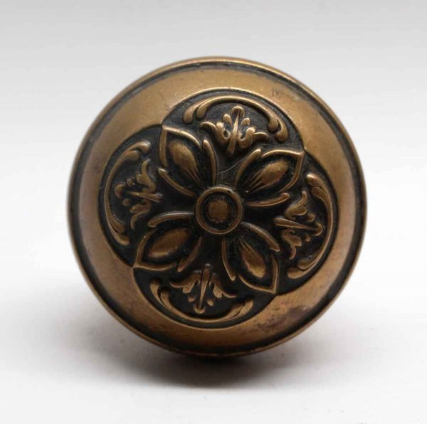 Door Knobs - Antique Lockwood Renaissance Nantes Brass Door Knob