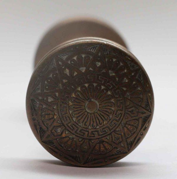 Door Knobs - Antique Mallory Wheeler 8 Fold Bronze Door Knob Set