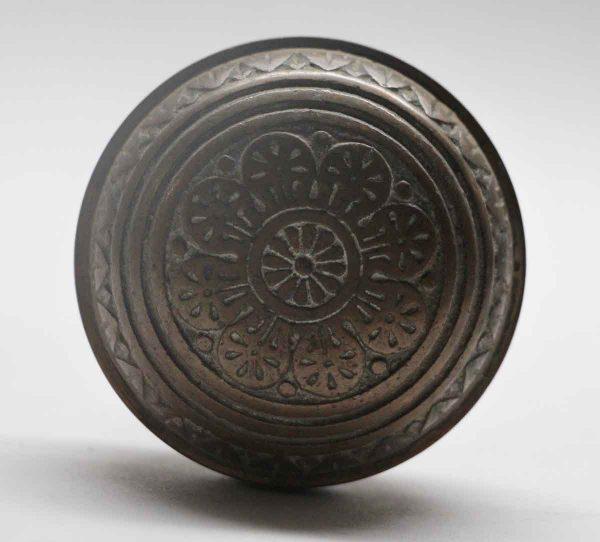Door Knobs - Antique Nashua Dark Bronze 8 Fold Door Knob