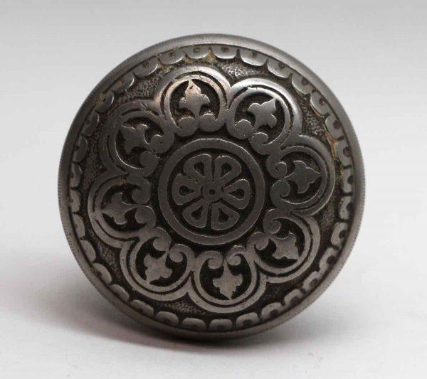 Door Knobs - Antique Niles Chicago Eight Fold Nickel Over Bronze Door Knob