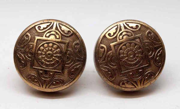 Door Knobs - Antique Polished Bronze Hopkins & Dickinson 4 Fold Door Knob Set
