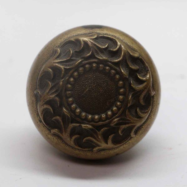 Door Knobs - Antique Russell & Erwin Romanesque Brass Door Knob