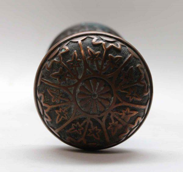 Door Knobs - Antique Sargent Dark Bronze 6 Fold Entry Door Knob Set