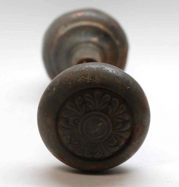 Door Knobs - Antique Sargent Dunkirk Dark Brass Door Knob Set