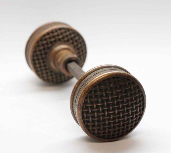 Door Knobs - Bronze Russell & Erwin Basket Weave Door Knob Set