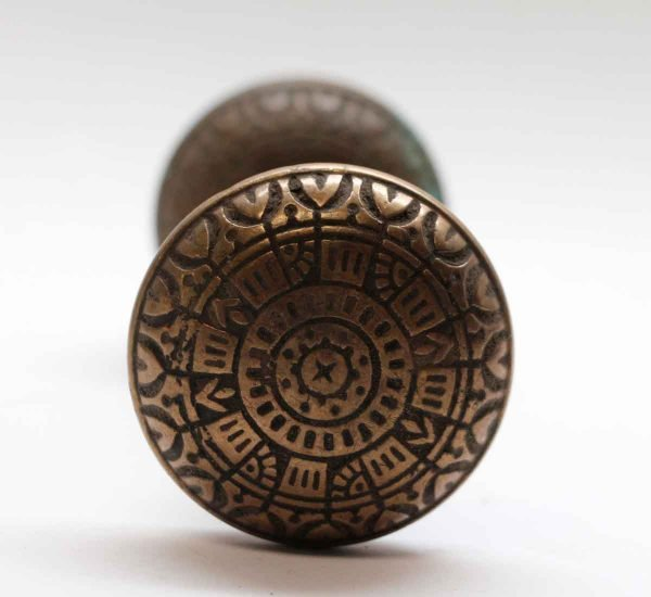 Door Knobs - Peterboro Bronze Vernacular Door Knob Set