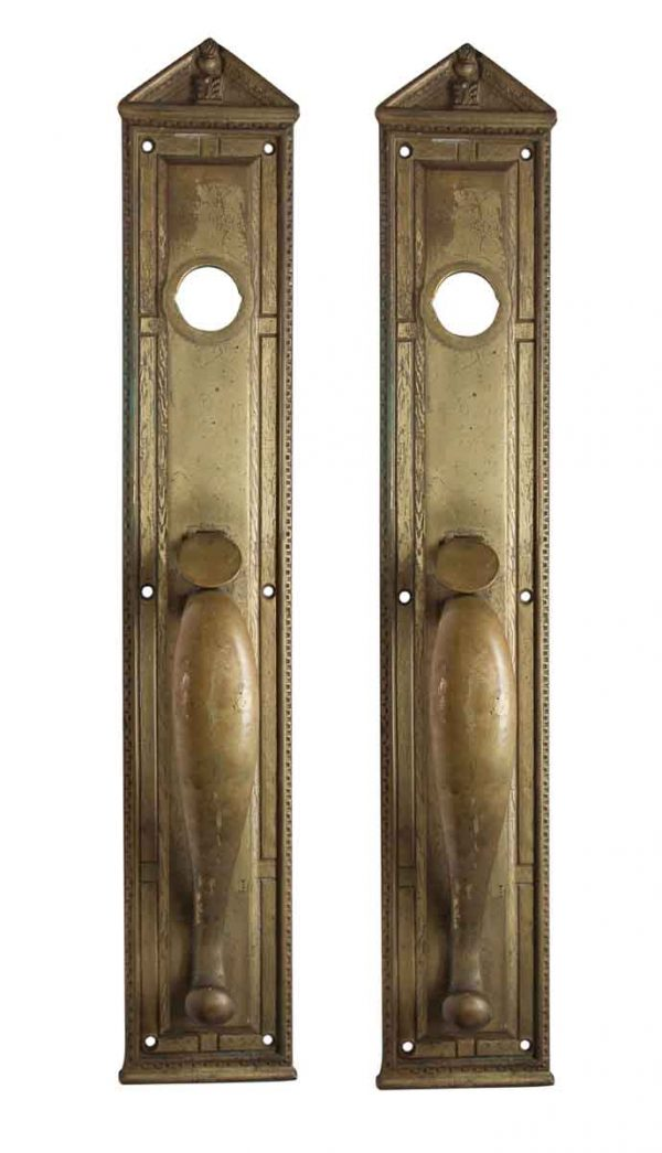 Door Pulls - Cast Brass Federal Style Reading Door Pulls