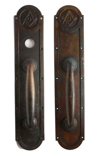 Pair of Emblematic Corbin Bronze Door Handles  sc 1 st  Olde Good Things & Antique Door Pulls | Olde Good Things