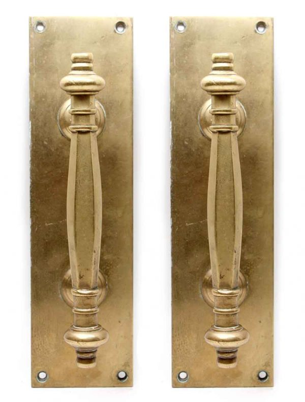 Door Pulls - Pair of Traditional Polished Brass Door Handles